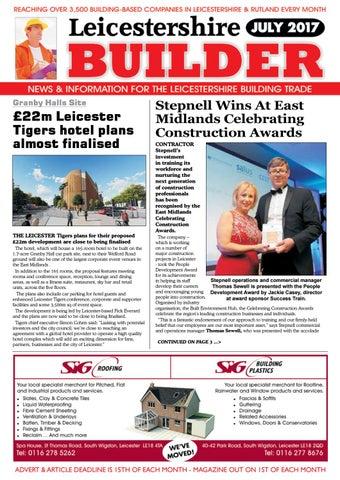 d1e0c456bc39d July 2017 leicestershire builder online magazine by Michael ...