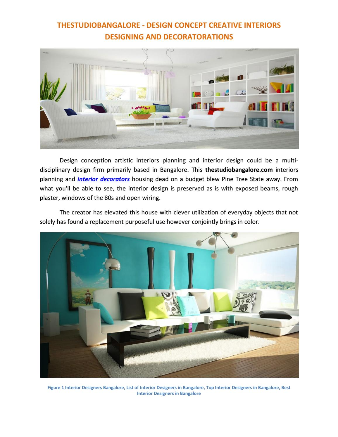 Interior Designers And Decorators Thestudiobangalore By Vijay