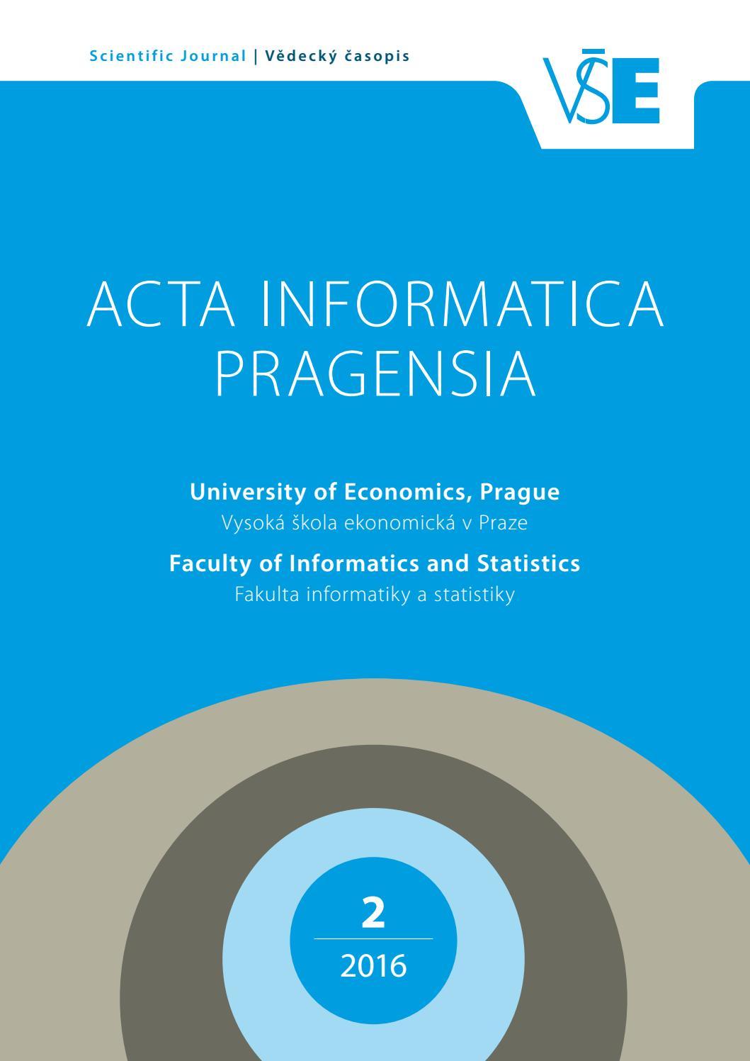 Acta Informatica Pragensia Vol. 5 b92d224d50