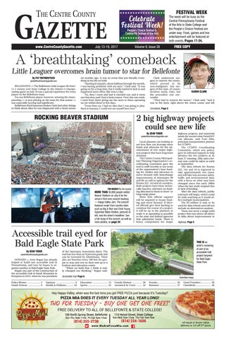 Centre County Gazette July 13 2017 By Indiana Printing