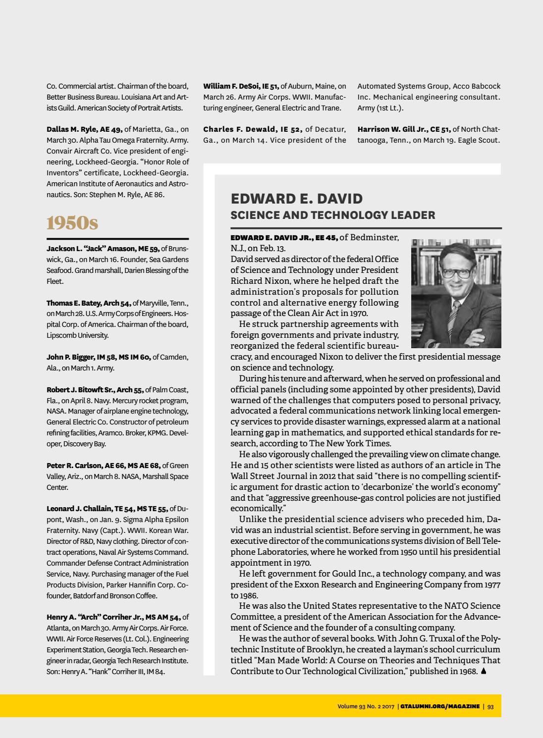 Georgia Tech Alumni Magazine Vol 93 No 2 Summer 2017 By Georgia