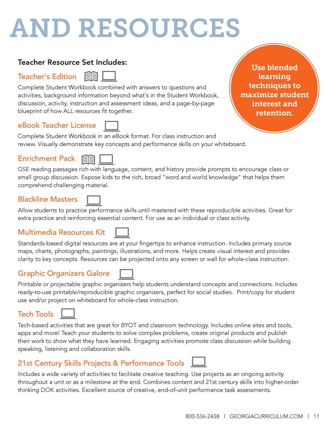 2017-2018 Georgia Experience Curriculum Catalog by Gallopade