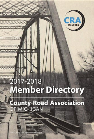 County Road Association Of Michigan 2017 2018 Directory By