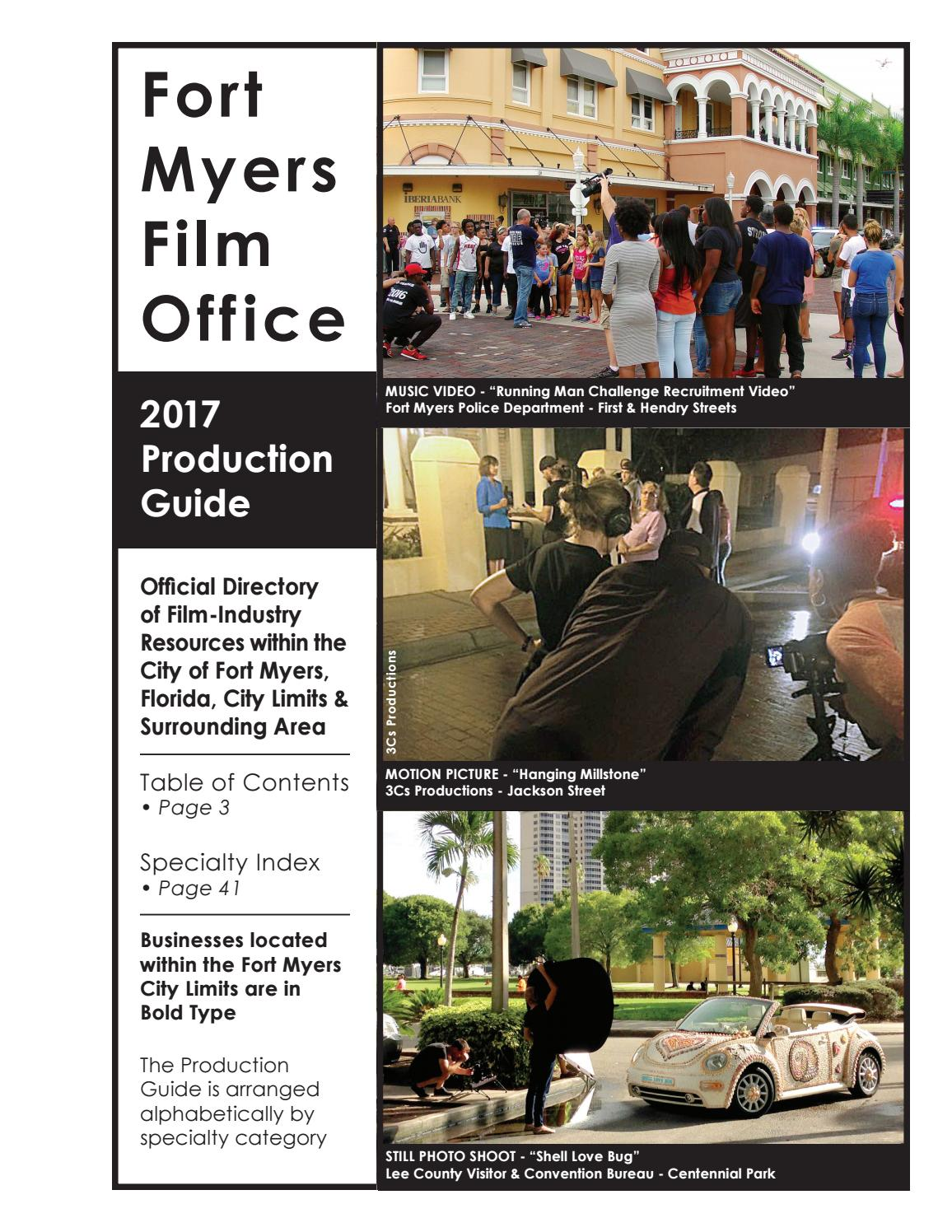 Fort Myers Film Office Production Guide 2017