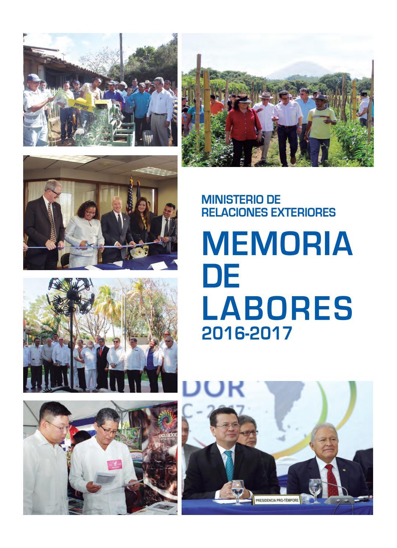 Memoria de labores 2016 2017 by ministerio de relaciones for Oposiciones ministerio de exteriores