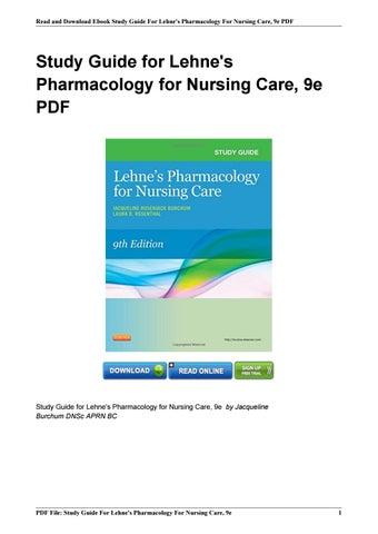 Basic Pharmacology For Nurses Pdf