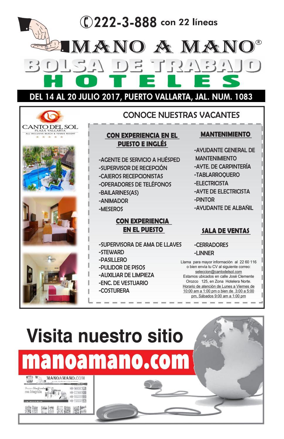 Bolsa trabajo hoteles 1083 by MANO A MANO - issuu