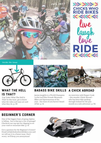 Live Laugh Love Ride Issue 1 July 2017 By Chicks Who Ride Bikes Issuu