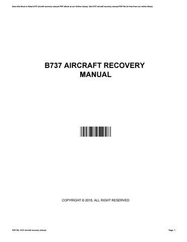 b737 aircraft recovery manual by nancybrink1958 issuu rh issuu com CRJ7 Aircraft AWACS Radar Jammer Aircraft