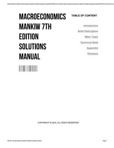 Macroeconomics Mankiw 6th Edition Pdf