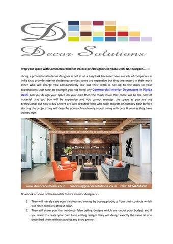 Commercial Interior Decorators In Noida Delhi Gurgaon By Decor Solutions Issuu