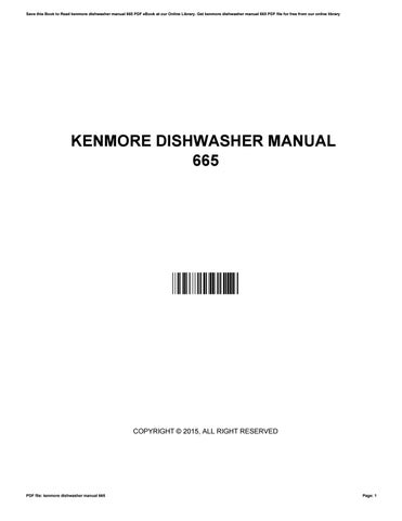 Dishwasher service manual by mdhc34 issuu cover of kenmore dishwasher manual fandeluxe Gallery