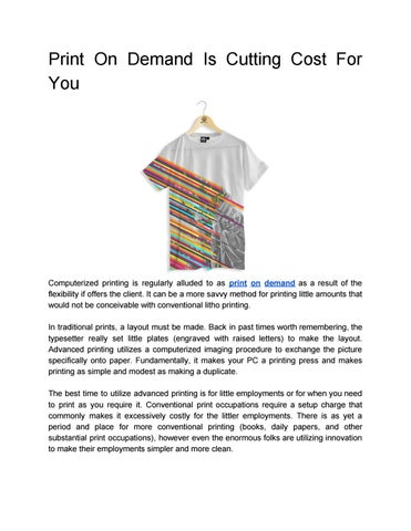 d0922e804c Print on demand is cutting cost for you by Sublimation Kitchen - issuu