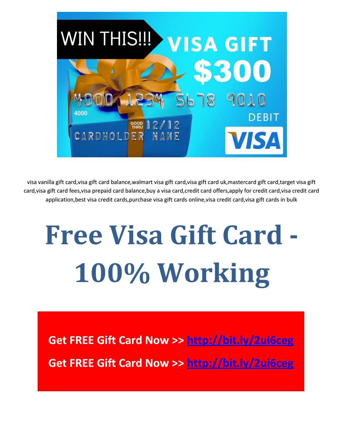 Free Visa Gift Card 100% Working by Charitable Organization