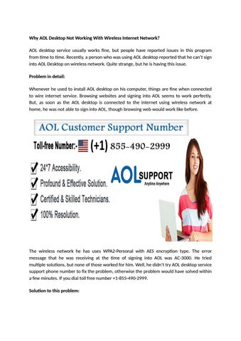 2 aol desktop service support phone number +1-855-490-2999 by