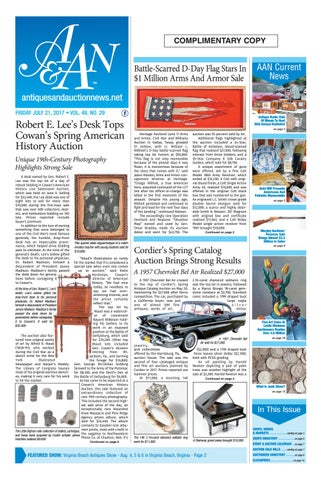 Antiques U0026 Auction News 072117 By Antiques U0026 Auction News   Issuu