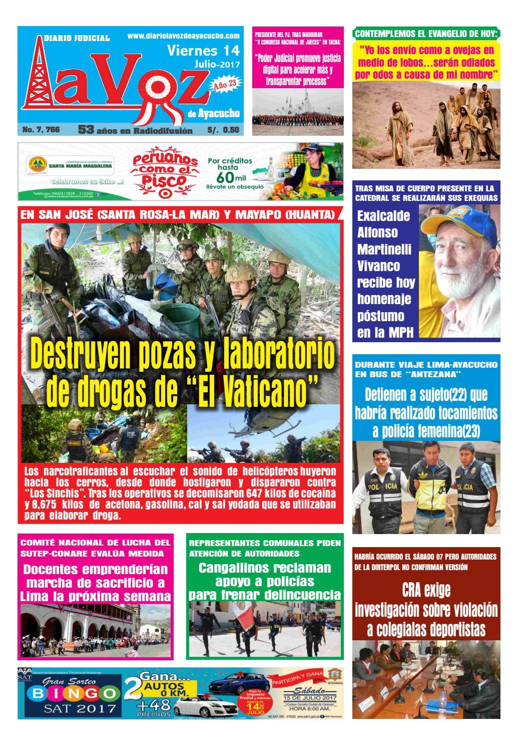 Edicion J 7521 Viernes 11 Noviembre 2016 By Diario La Voz De  # Muebles Ludena Chimbote