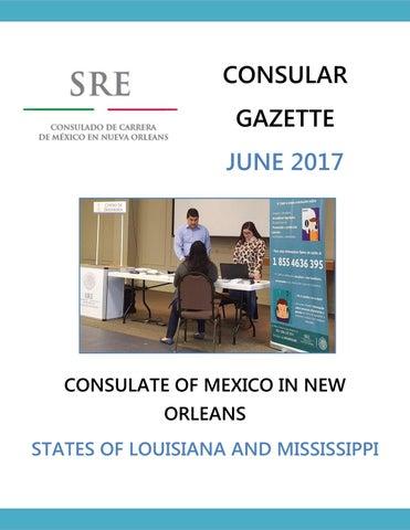 Consular Gazette June 2017 for the Consulate of Mexico in