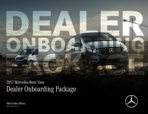 a89944acee Onboarding Package for new Mercedes-Benz Vans Hires by Janet Hatcher ...