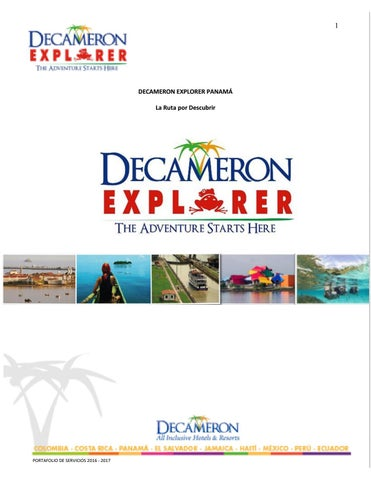 a69a50be23d4a ES - Decameron Explorer Panamá by Hoteles Decameron - issuu