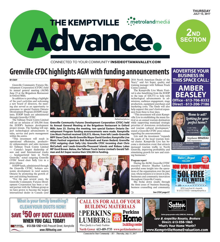 a1dd2c3cbe9 Kemptville071317 by Metroland East - Kemptville Advance - issuu