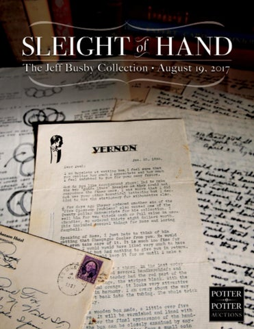 Sleight Of Hand The Jeff Busby Collection By