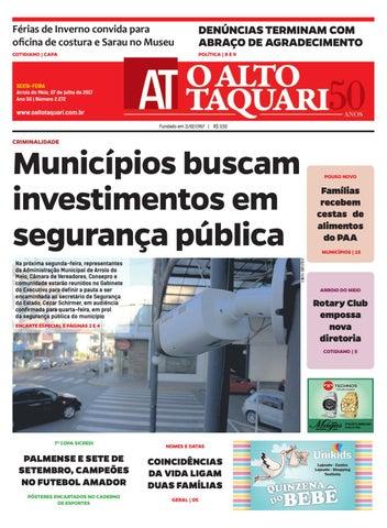 3301b54e7 Jornal O Alto Taquari - 07 de julho de 2017 by Jornal O Alto Taquari ...