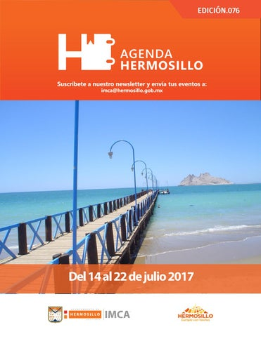"Cover of ""Agenda Hermosillo 14 julio 2017"""