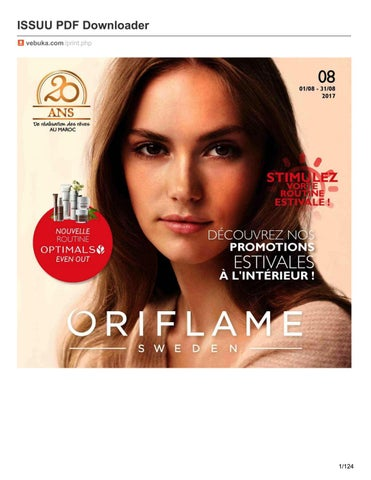 catalogue oriflame août 2017