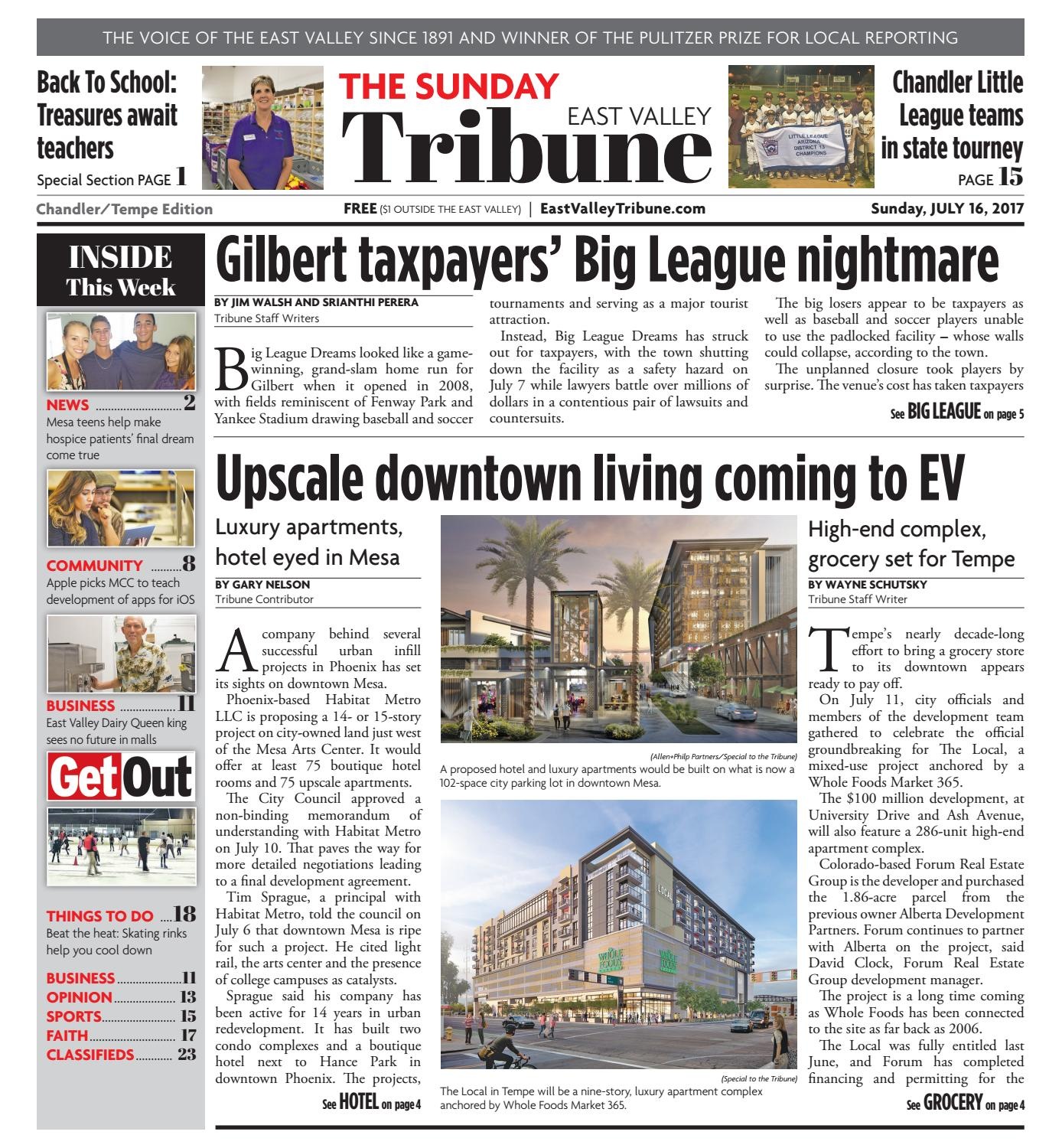 East Valley Tribune Chandler Tempe Edition July 16 2017 by
