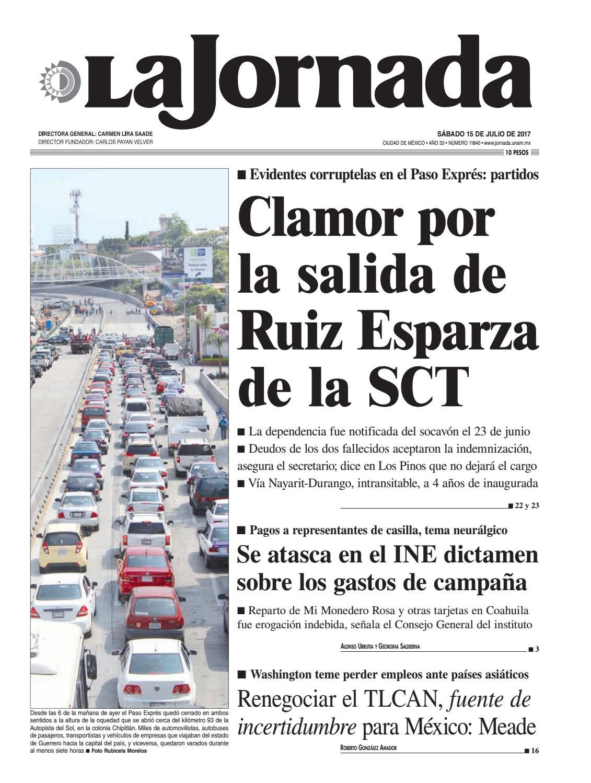 La Jornada, 07/15/2017 by La Jornada: DEMOS Desarrollo de Medios ...