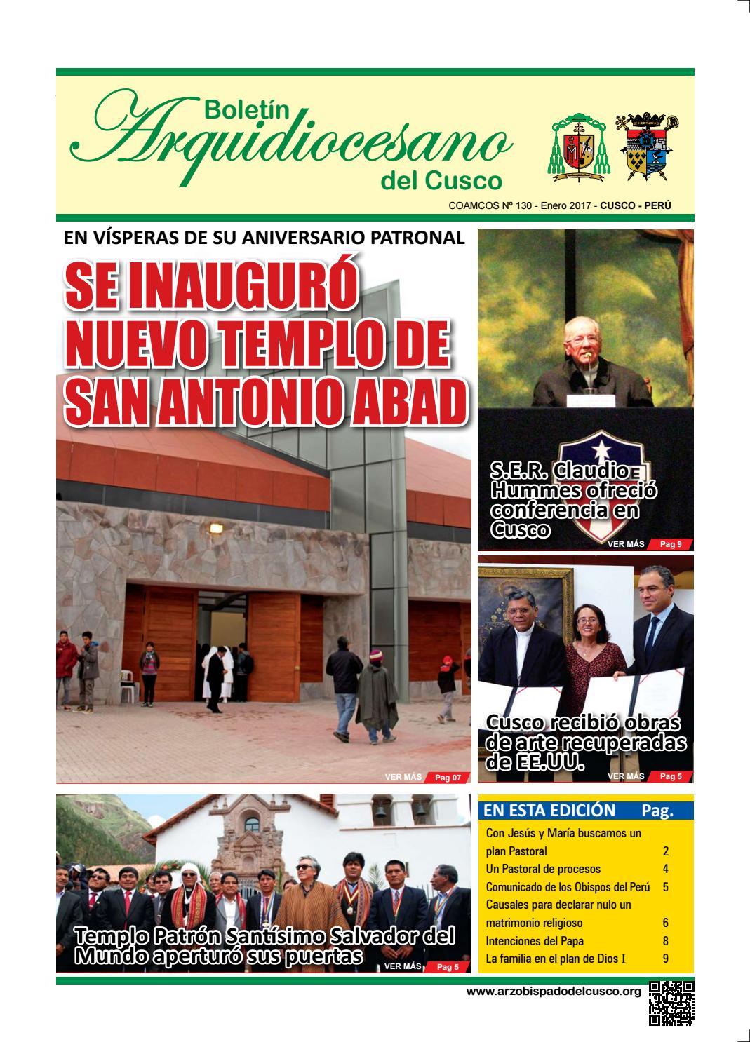 Boletín Arquidiocesano N° 130 - Enero 2017 - Arzobispado del Cusco ...