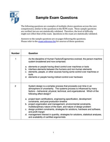 M bcpe sample questions answers jul141 by Boyvanss Nagassa - issuu