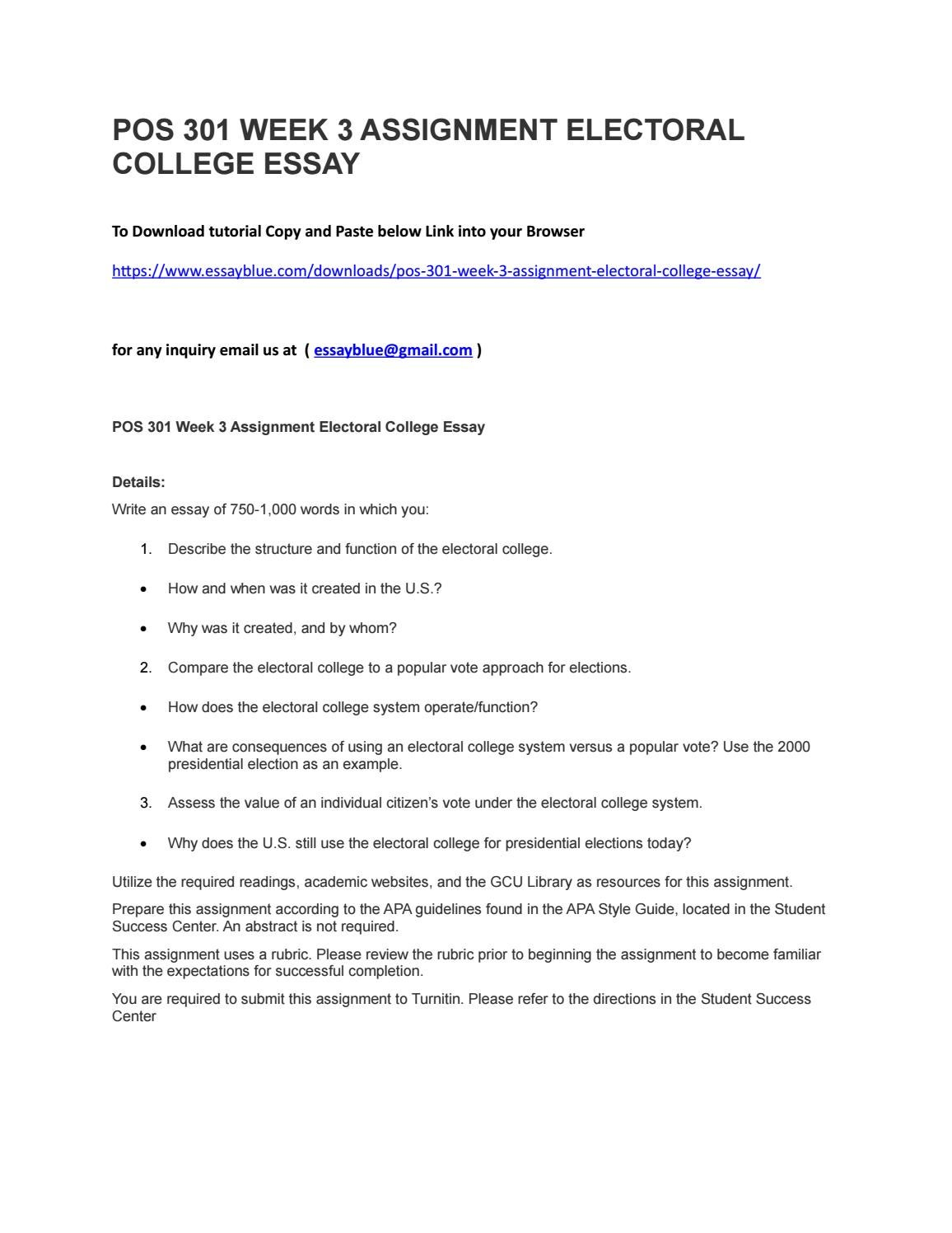 Business Ethics Essays  Modest Proposal Essay Ideas also Science Technology Essay Pos  Week  Assignment Electoral College Essay By Kenigodfrey  Issuu Argument Essay Paper Outline