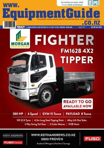 equipment guide august 2017 issue by nz truck driver issuu rh issuu com