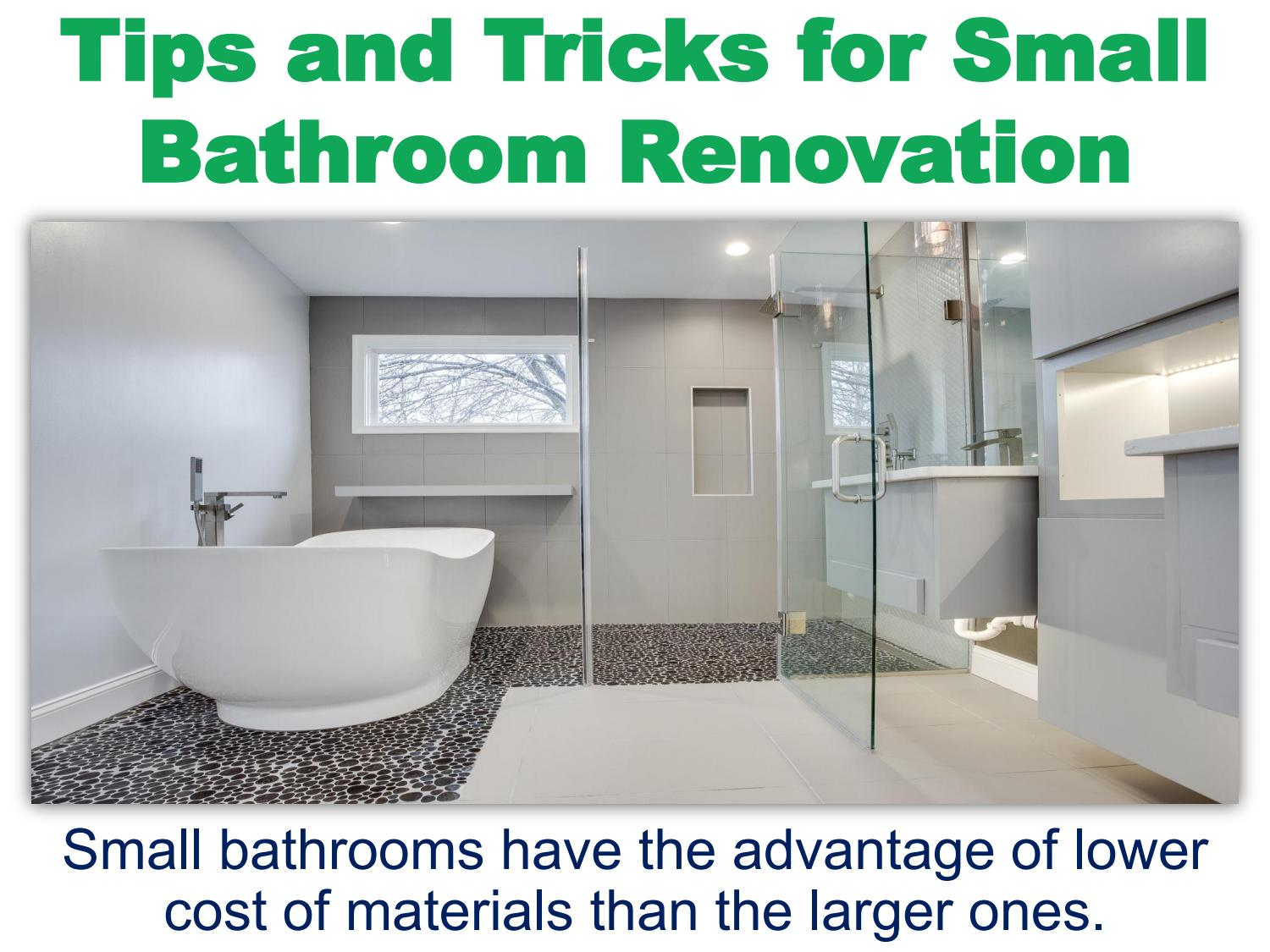 Tips And Tricks For Small Bathroom Renovation By Maria