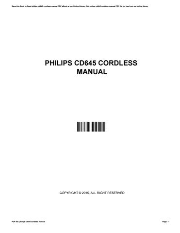 philips cd645 cordless manual by joanteague2930 issuu rh issuu com