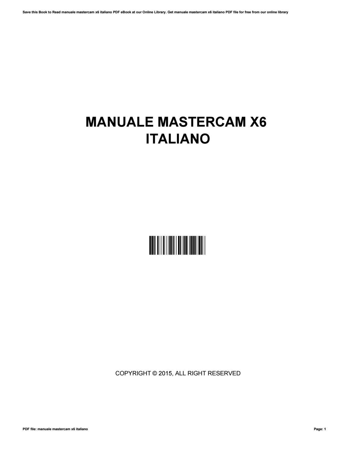 manuale master cam browse manual guides u2022 rh trufflefries co