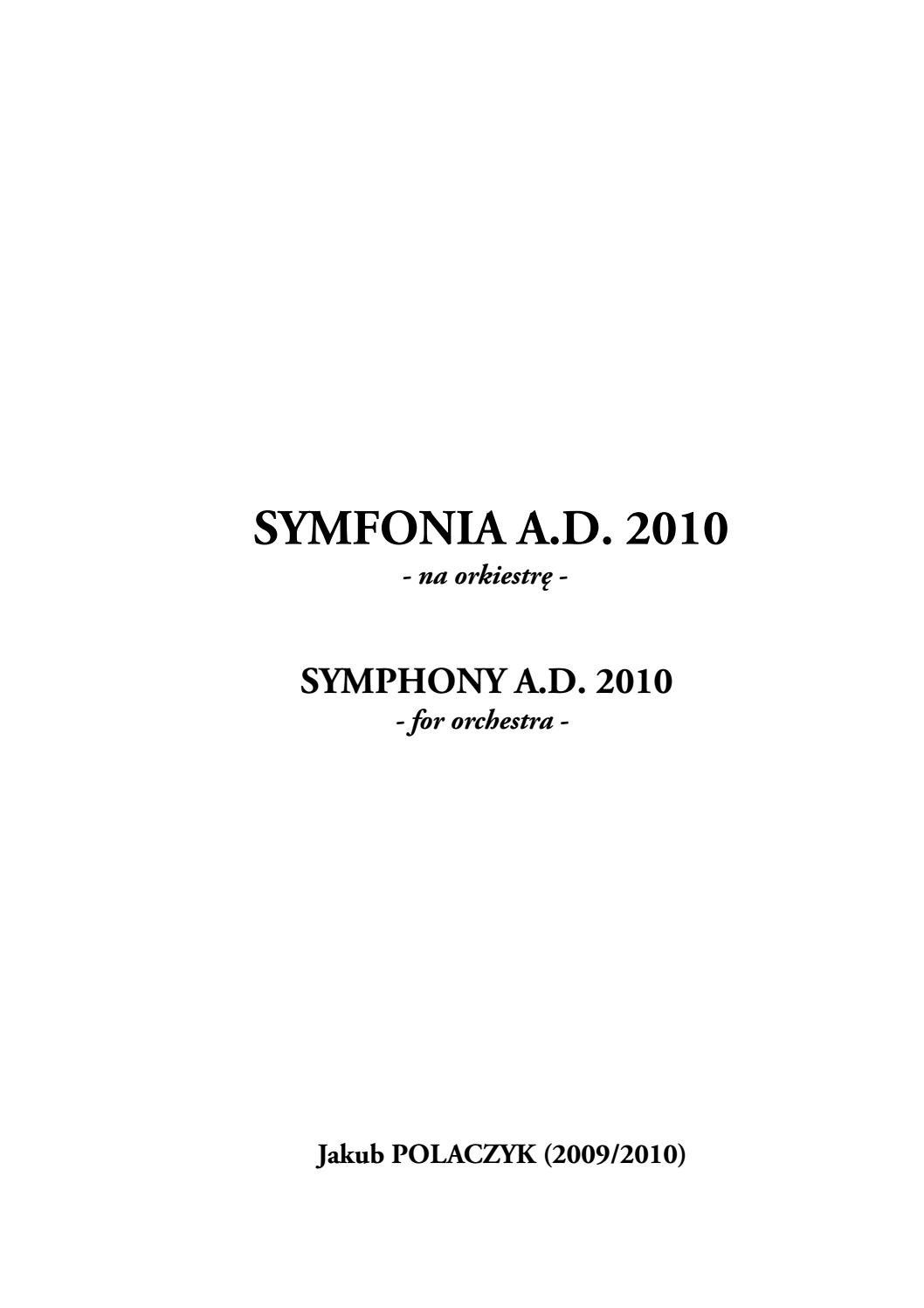 Symphon Ad2010 Polaczyk J By Jakub Polaczyk Issuu