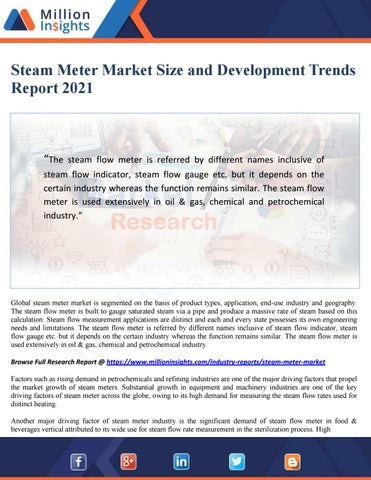 Steam meter market size and development trends report 2021