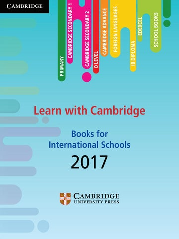 International school book 2017 by cambridge university for Hispano international decor contact number