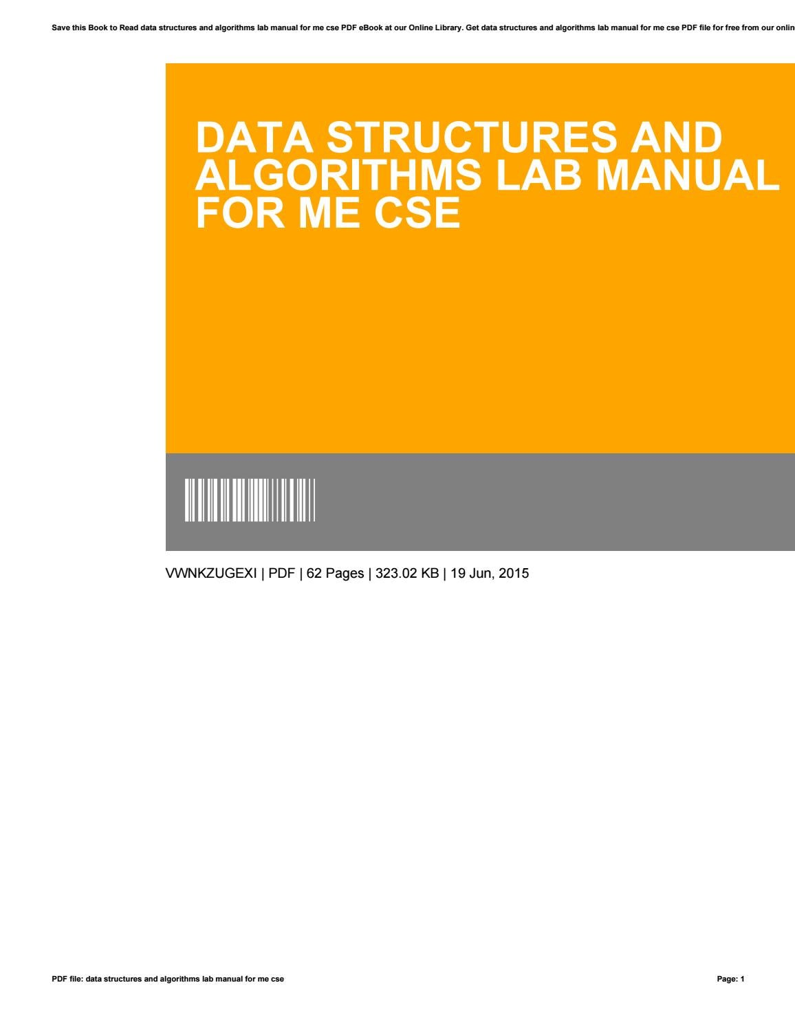 Data structures and algorithms lab manual for me cse by OcieWhite4023 -  issuu