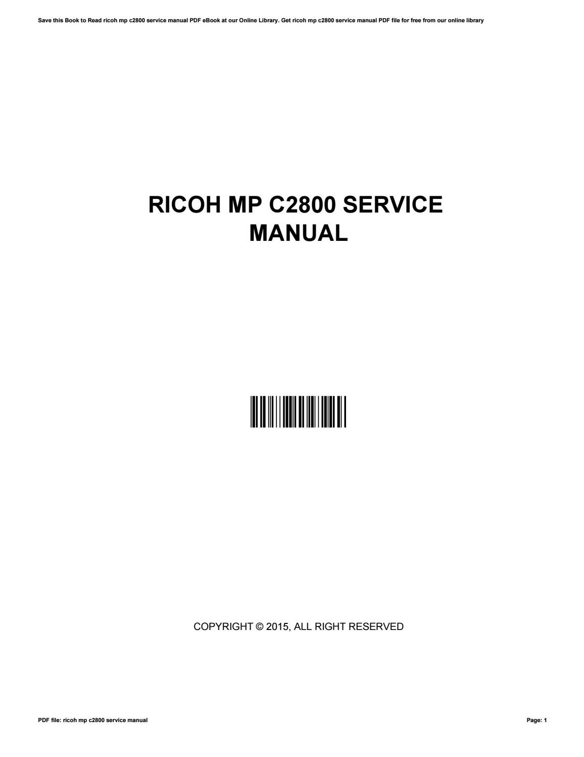 ricoh aficio sp1000 service repair manual ebook