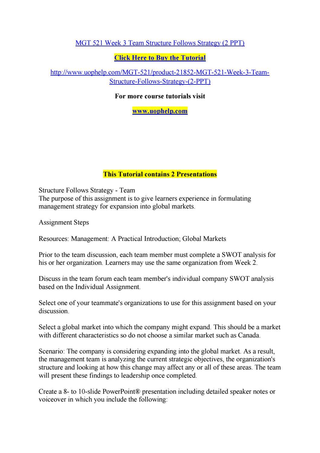 Organizational planning Paper Week 3 MGT-521