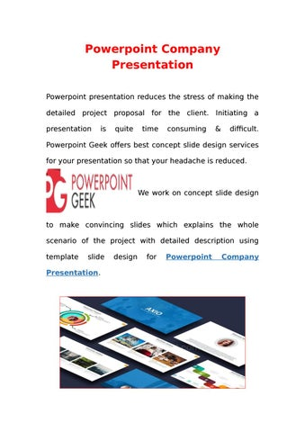 Powerpoint business company presentation by powerpoint geek issuu powerpoint company presentation powerpoint presentation reduces the stress of making the detailed project proposal for the client initiating a presentation toneelgroepblik Choice Image