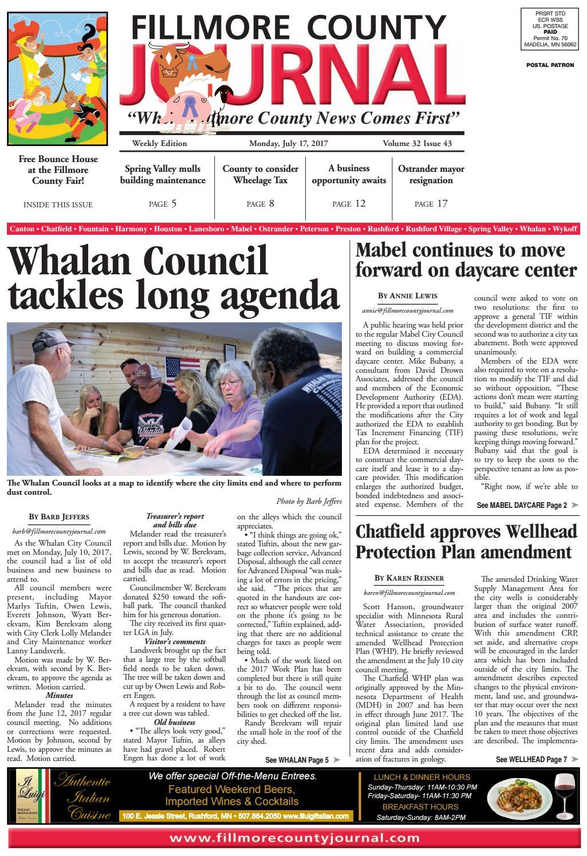 81498506451 Fillmore County Journal - 7.17.17 by Jason Sethre - issuu
