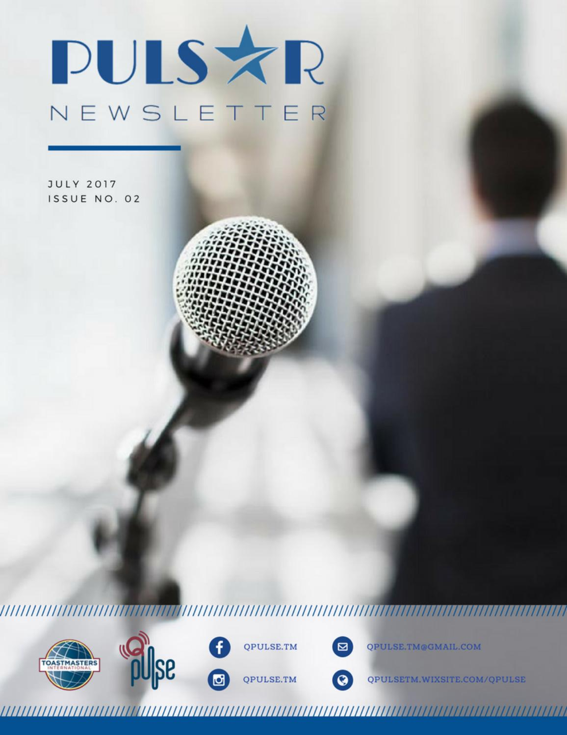 Q Pulse Newsletter Issue02 By Q Pulse Toastmasters