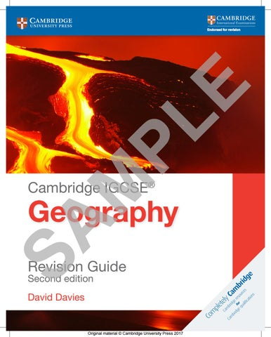 Cambridge IGCSE Geography Revision Guide Students Book Cambridge International IGCSE