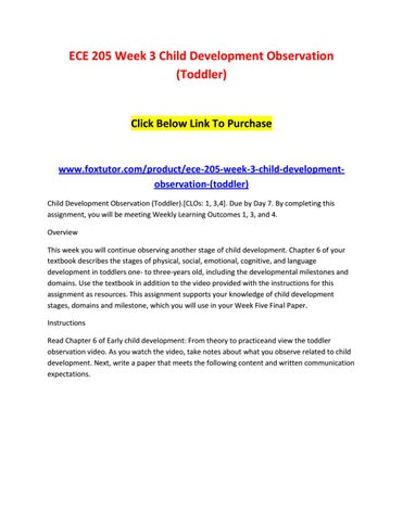 Ece 205 week 3 child development observation (toddler) by ece205ft