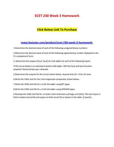 ecet 230 homework